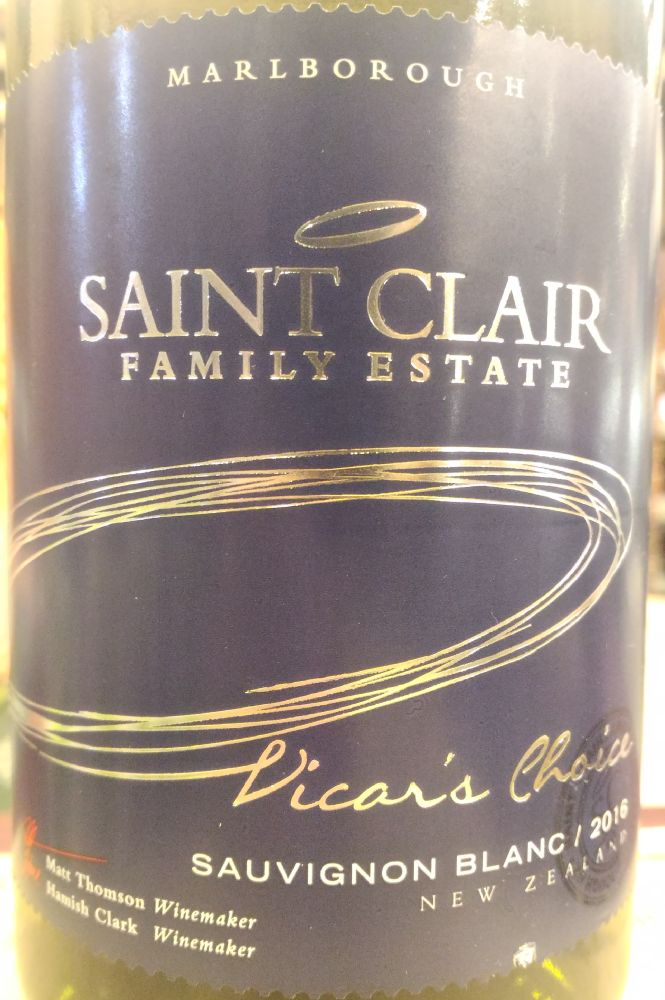Saint Clair Family Estate Vicar's Choice Sauvignon Blanc 2016, Main, #5444
