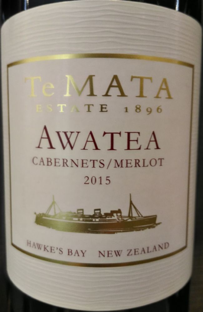 Te Mata Estate Winery Ltd Awatea Cabernet Sauvignon Merlot 2015, Main, #6309